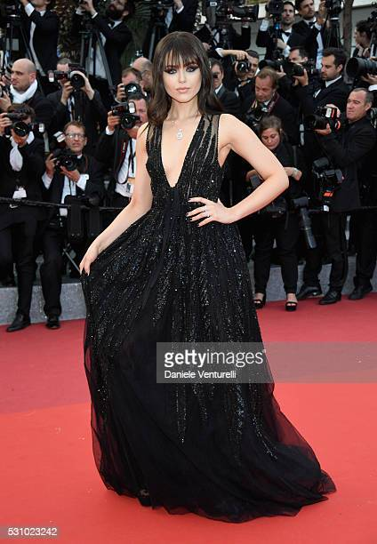 Kristina Bazan attends the 'Money Monster' premiere during the 69th annual Cannes Film Festival at the Palais des Festivals on May 12 2016 in Cannes...