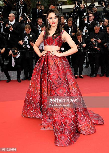 Kristina Bazan attends the 'Slack Bay ' premiere during the 69th annual Cannes Film Festival at the Palais des Festivals on May 13 2016 in Cannes...