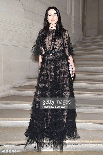 Kristina Bazan attends the Valentino Haute Couture Spring Summer 2017 show as part of Paris Fashion Week on January 25 2017 in Paris France