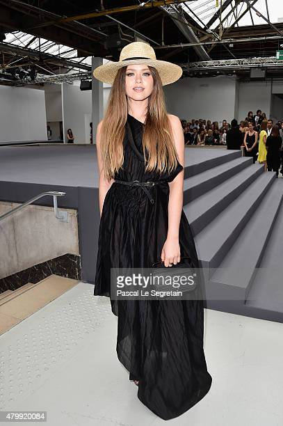 Kristina Bazan attends the Viktor Rolf show as part of Paris Fashion Week Haute Couture Fall/Winter 2015/2016 on July 8 2015 in Paris France