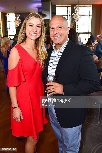 Kristina Camia and Hector Velasquez attend Harriette Rose Katz Hosts The Second Anniversary of The Chosen Few at The Rainbow Room on July 11 2016 in...