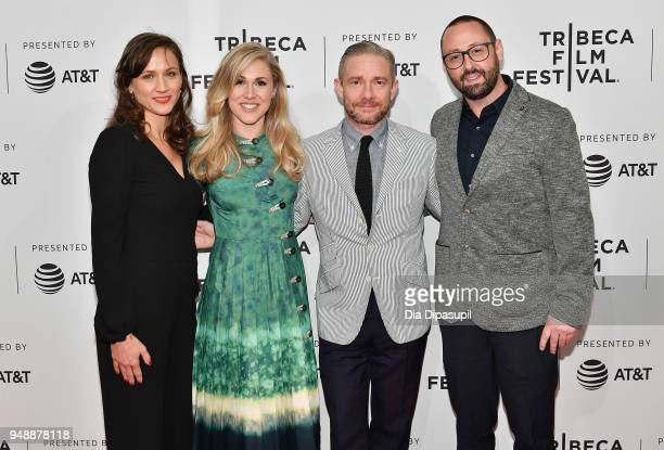 Kristina Ceyton Yolanda Ramke Martin Freeman and Ben Howling attend a screening of Cargo during the 2018 Tribeca Film Festival at SVA Theatre on...