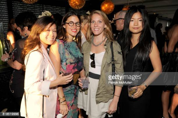 Kristina Chu Alicia Reina Rory Gartleman and Tracey Long attend Via Spiga 25th Anniversary Event at Empire Hotel Rooftop on August 2 2010 in New York...