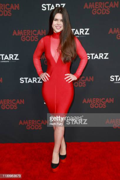 Kristina Coolish attends the premiere of STARZ's 'American Gods' season 2 at Ace Hotel on March 05 2019 in Los Angeles California