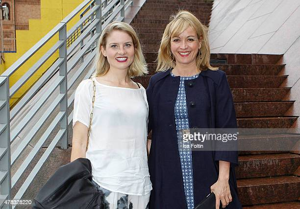 Kristina Fehrs and Katharina Abt attend the Montblanc De La Culture Arts Patronage Award 2015 on June 24 2015 in Hamburg Germany