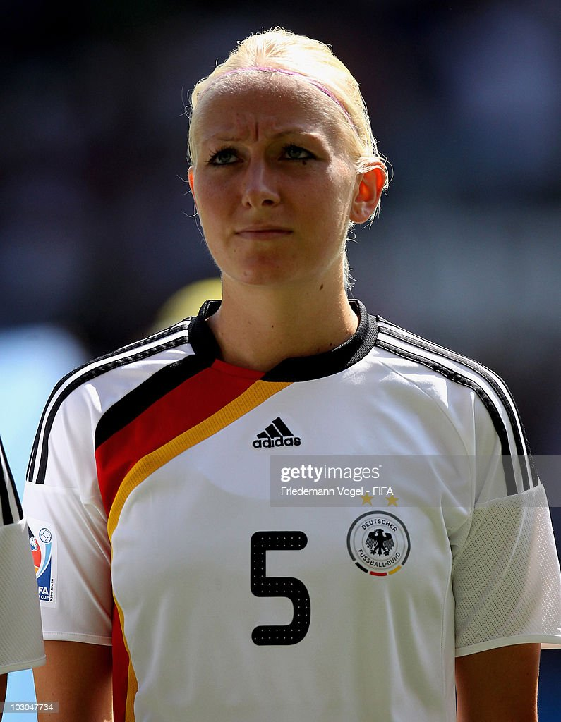 Kristina Gessat of Germany poses during the FIFA U20 Women's World Cup Group A match between France and Germany at the FIFA U-20 Women's World Cup stadium on July 20, 2010 in Augsburg, Germany.