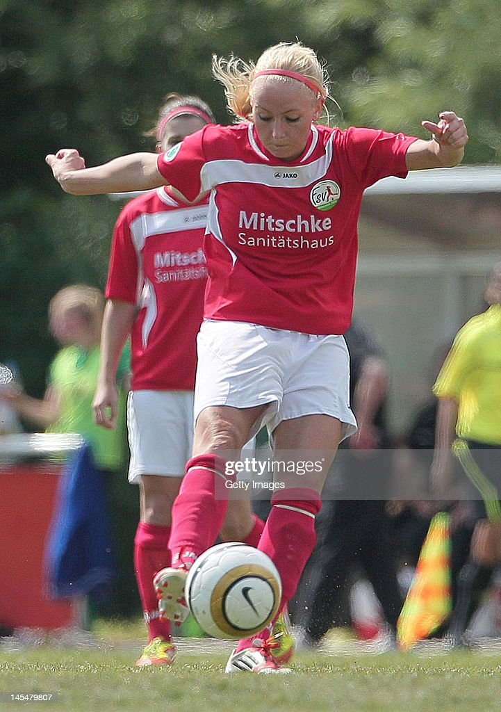 Kristina Gessat of Guetersloh during the Women's Second Bundesliga match between FFC Oldesloe and FSV Guetersloh 2009 on May 20, 2012 in Bad Oldesloe, Germany.