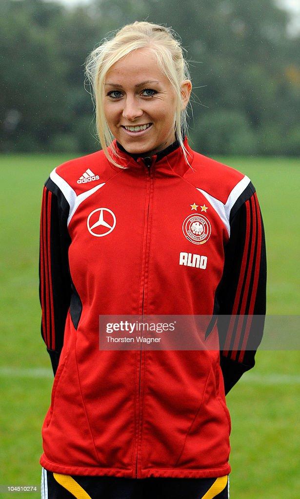 Kristina Gessat poses during the Women U23 National team presentation at Rosenhoehe stadium on September 28, 2010 in Offenbach, Germany.