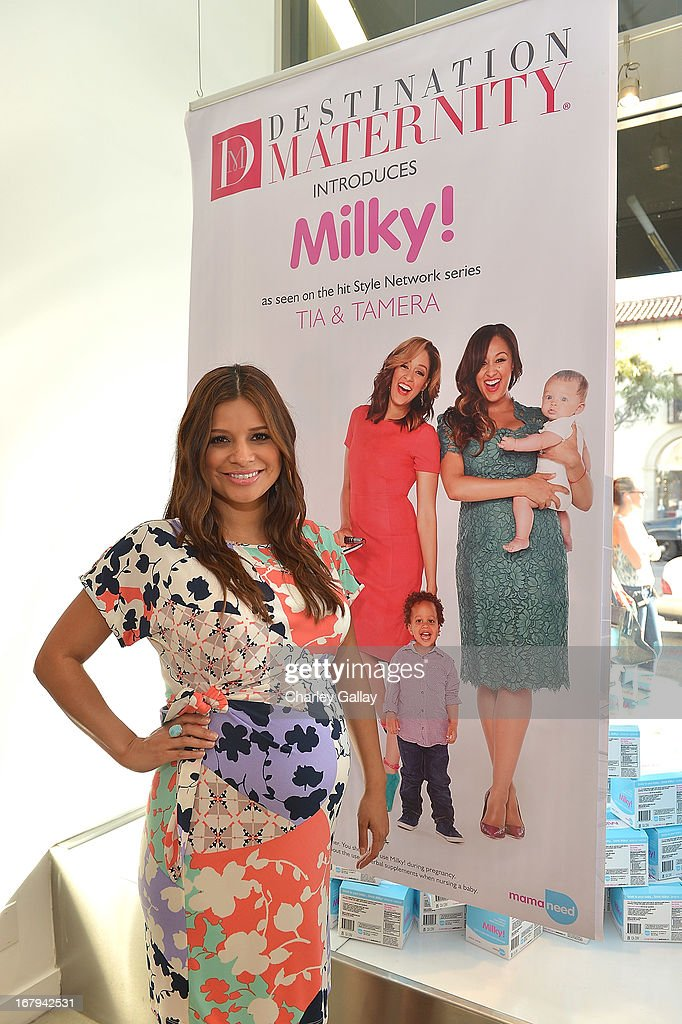 Kristina Guerrero attends the Milky! launch event at A Pea In The Pod on May 2, 2013 in Beverly Hills, California.