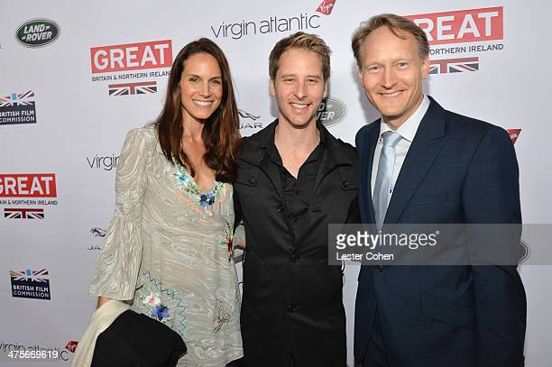 Kristina Hawkes Chesney Hawkes and British Consul General in Los Angeles Chris O'Connor attend the 2014 GREAT British Oscar Reception at British...