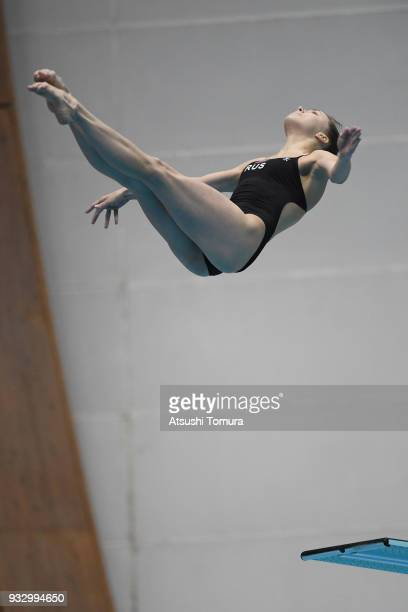 Kristina Ilinykh of Russia competes in the Women's 3m Springboard final during day three of the FINA Diving World Series Fuji at Shizuoka Prefectural...