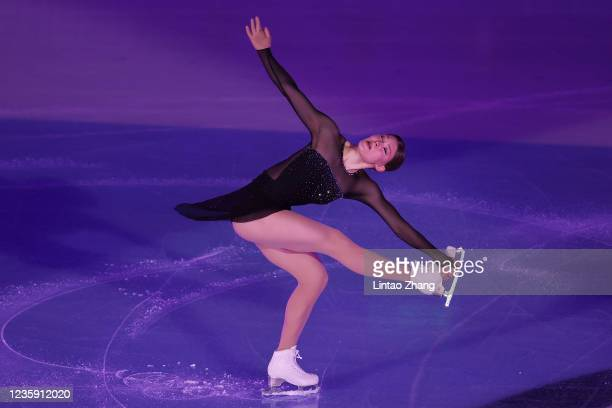 Kristina Isaev of Germany performs in the gala exhibition during day 4 of the 2021 Asia Open Figure Skating test event for the Beijing 2022 Winter...
