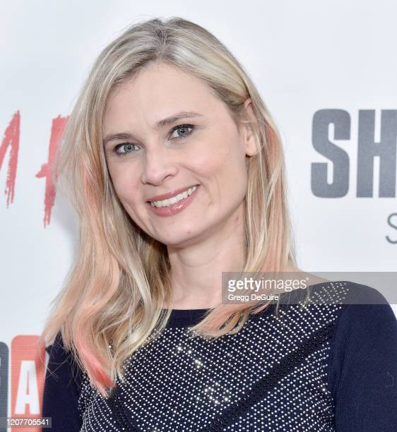 """Kristina Klebe attends the Los Angeles Premiere of Roxwell Films """"I Am Fear"""" at Laemmle Monica Film Center on February 20 2020 in Santa Monica..."""