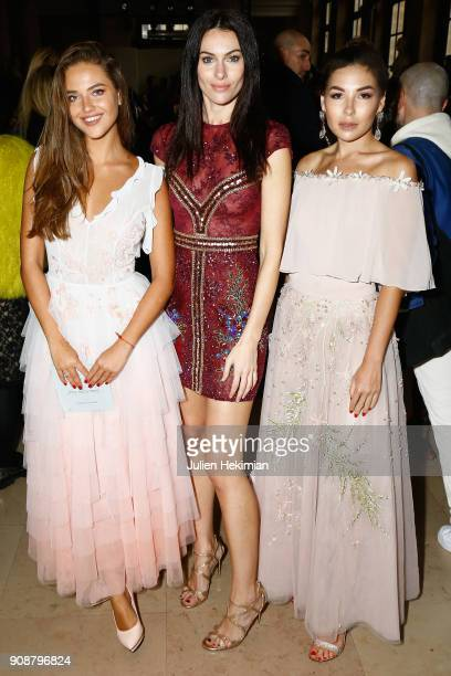 Kristina Krayt Paola Turani and Karina Nigay attend the Georges Hobeika Haute Couture Spring Summer 2018 show as part of Paris Fashion Week on...