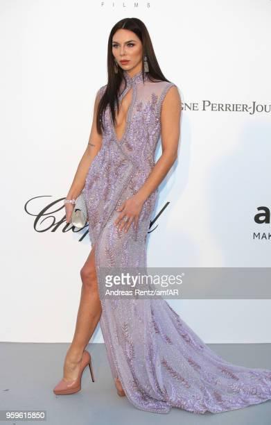 Kristina Liliana Chudinova aka Liliana Nova arrives at the amfAR Gala Cannes 2018 at Hotel du CapEdenRoc on May 17 2018 in Cap d'Antibes France