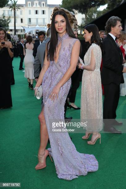 Kristina Liliana Chudinova former Matthaeus during the cocktail at the amfAR Gala Cannes 2018 at Hotel du CapEdenRoc on May 17 2018 in Cap d'Antibes...