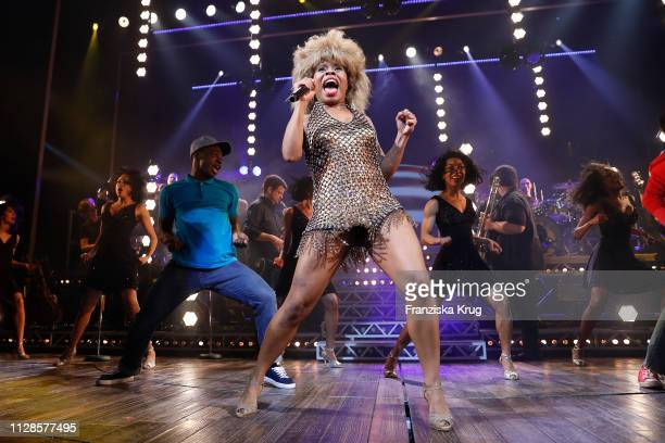 Kristina Love and cast during the premiere of the musical 'Tina - Das Tina Turner Musical' at Stage Operettenhaus on March 3, 2019 in Hamburg,...
