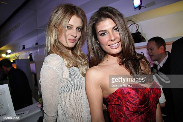 Kristina Mataityte and Angela Martini visit the Flagships Grand Resort at 541 Broadway on February 8 2012 in New York City
