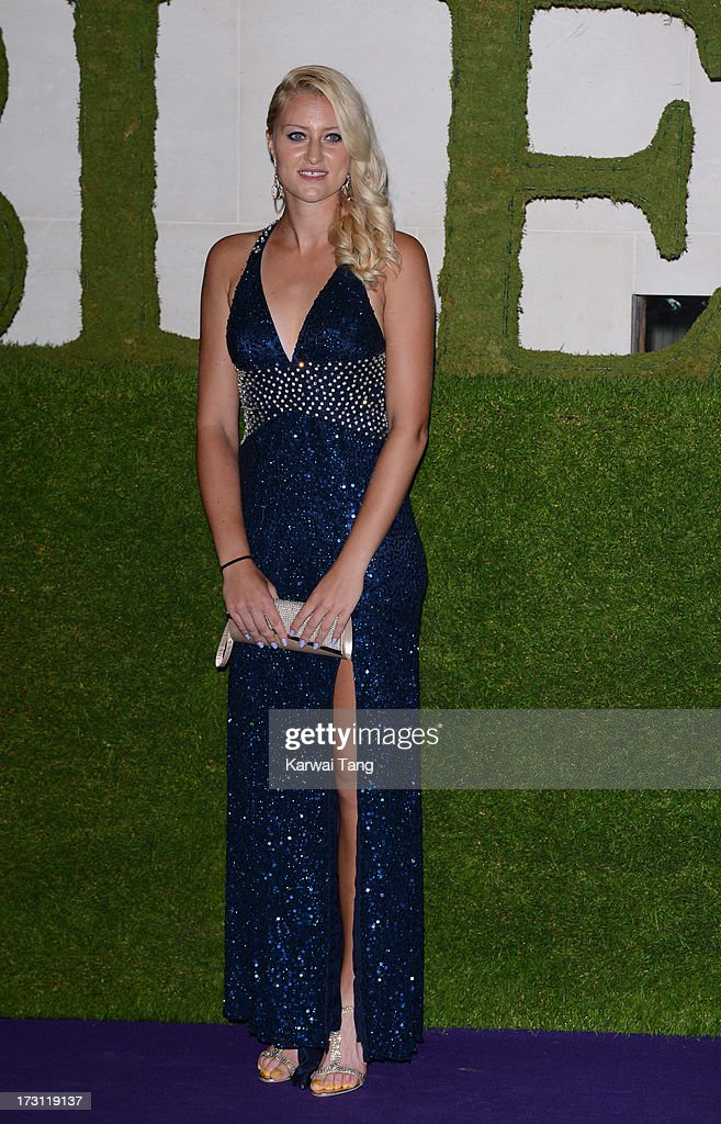 Kristina Mladenovic arrives for the Wimbledon Champions Dinner held at the InterContinental Park Lane Hotel on July 7, 2013 in London, England.