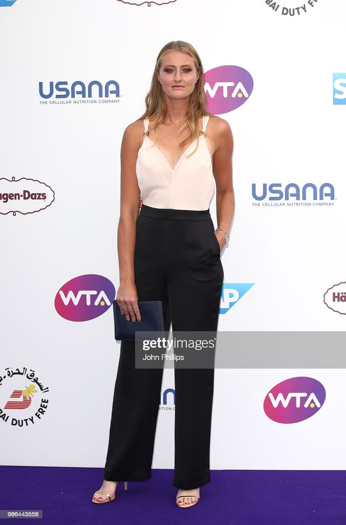 Kristina Mladenovic attends the Women's Tennis Association (WTA) Tennis on The Thames evening reception at OXO2 on June 28, 2018 in London, England. The event was held to honour the powerful imprint female sporting legends and rising stars have made on the world, both on and off the tennis court.