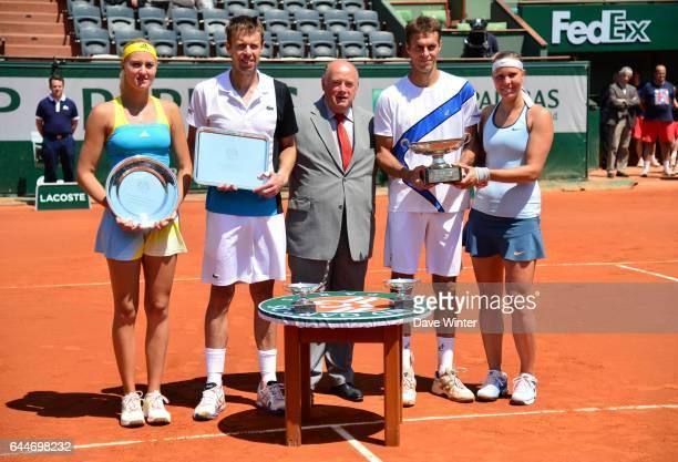 Kristina Mladenovic / Daniel Nestor / Frantisek Cermak / Lucie Hradecka - - Roland Garros 2013 - Finale du double mixte, Photo : Dave Winter / Icon...