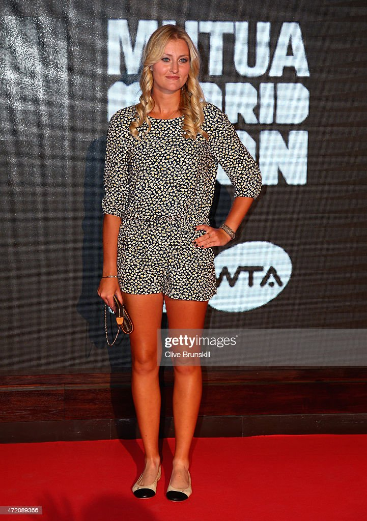 Kristina Mladenovic of France arrives at the player party during day two of the Mutua Madrid Open tennis tournament at the Caja Magica on May 3, 2015 in Madrid, Spain.