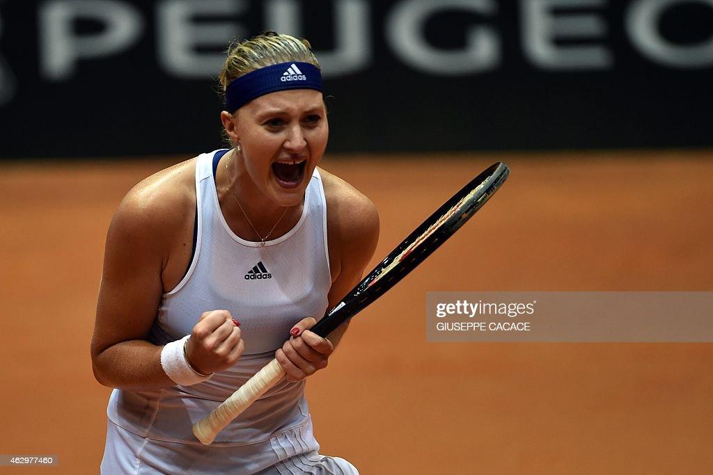 TENNIS-FEDCUP-ITA-FRA : News Photo