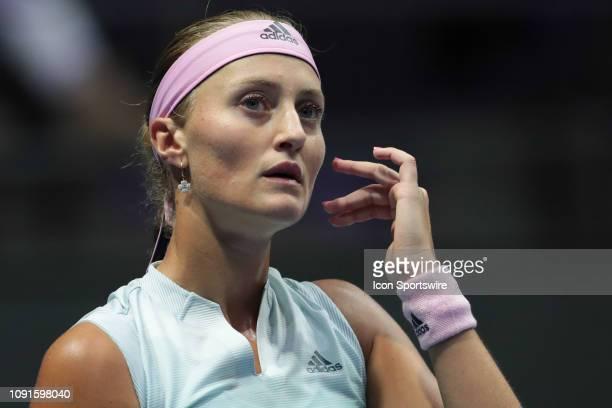 Kristina Mladenovic of France during the St. Petersburg Ladies Trophy 2019 tennis tournament match in St.Petersburg, Russia, 29 Jan. 2019, Sibur...