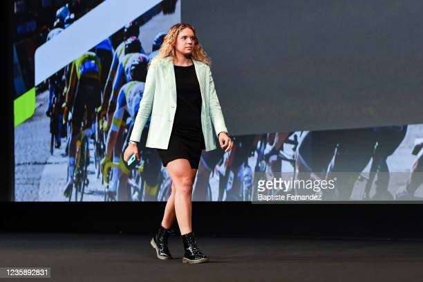 Kristina NENADOVIC during the presentation of the Tour de France 2022 at Palais des Congres on October 14, 2021 in Paris, France.