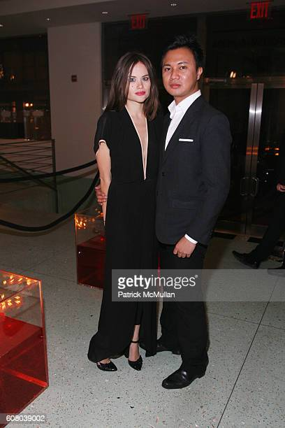 Kristina Ratliff and Brian Urcia attend charity ball Hosted by Adrian Grenier and Jessica Stam with Scott Harrison at Metropolitan Pavilion at The...