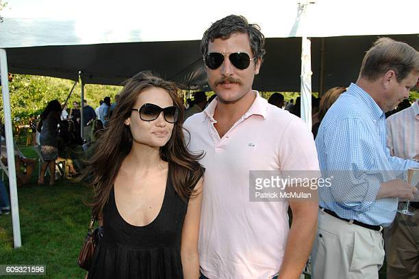 Kristina Ratliff and Douglas Friedman attend ACRIA and BANANA REPUBLIC Host COCKTAILS AT SUNSET at The Home of Ross Bleckner on July 7 2007 in...