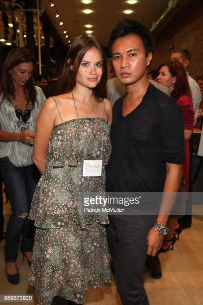 Kristina Ratliff and Ryan Urcia attend RAINFOREST ACTION NETWORK Hosts the Opening Night Party for The GreenShows ECO Fashion Week at King of Greene...