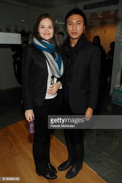 Kristina Ratliff and Ryan Urcia attend SAMANTHA PLEET Fall/Winter 2010 at The GreenShows on February 16 2010 in New York City
