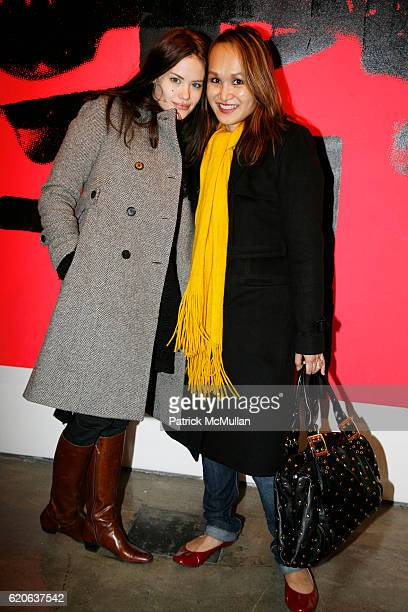 Kristina Ratliff and Trang guest attend RUSSELL YOUNG Only Anarchists Are Pretty A Milk Gallery Project at Milk Gallery on January 24 2008 in New...
