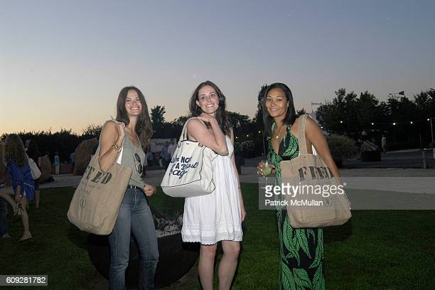 Kristina Ratliff Emily Huggins and Monique Péan attend Project Greenhouse Hamptons Screening of Leonardo Dicaprio's The 11th Hour at Silas Marder...
