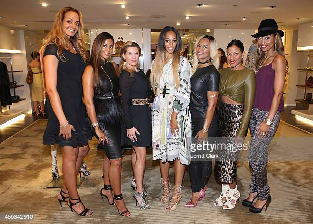 Kristina Ratliff Tai Eisley Shannon Wesley Alexis Stoudemire Zoe Camby Jenine Howard and Dee Dee AbdurRahim attend The Behind The Bench Burberry...