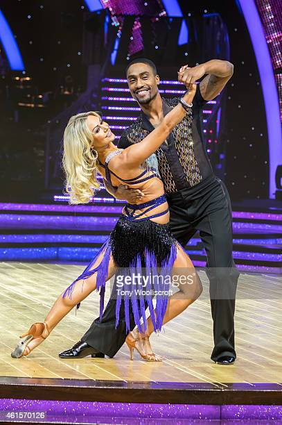 Kristina Rhianoff and Simon Webbe attends a photocall to launch the Strictly Come Dancing Live Tour 2015 at Birmingham Barclaycard Arena on January...
