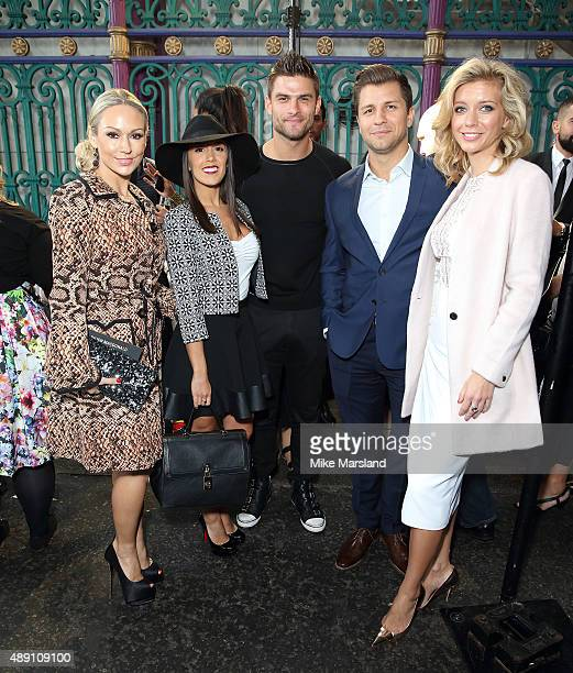 Kristina Rihanoff Aljaì Skorjanec Janette Manrara Rachel Riley and Pasha Kovalev attend the Julien Macdonald show during London Fashion Week...
