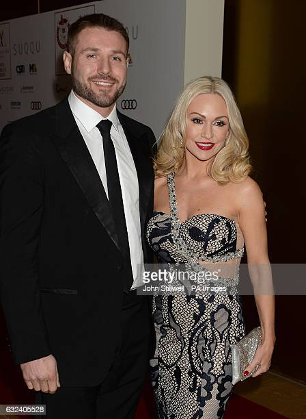 Kristina Rihanoff and Ben Cohen arrive at the London Critics' Circle Film Awards at the May Fair Hotel in London