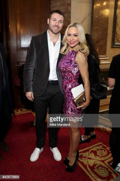 Kristina Rihanoff and Ben Cohen attend the Julien MacDonald show during the London Fashion Week February 2017 collections on February 18 2017 in...