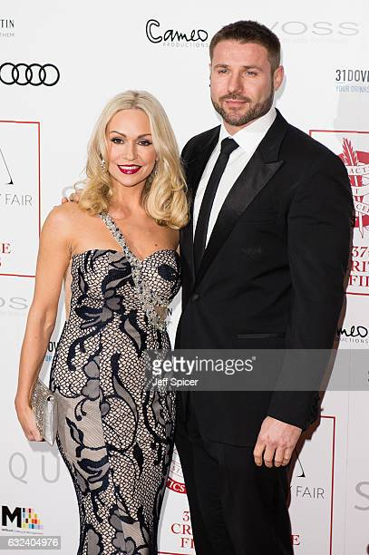 Kristina Rihanoff and Ben Cohen attend The London Critic's Circle Film Awards at the May Fair Hotel on January 22 2017 in London United Kingdom