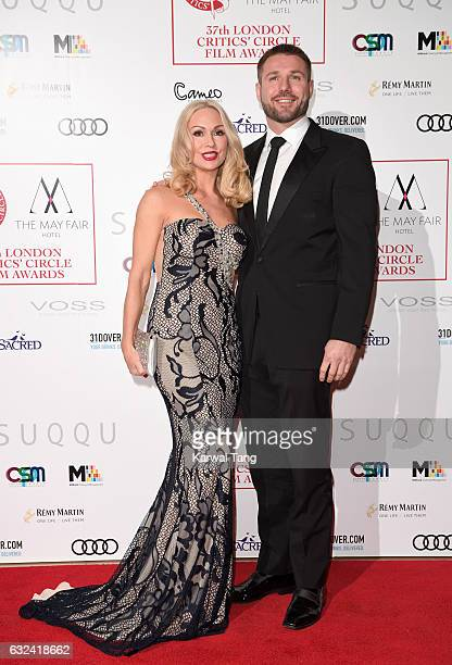 Kristina Rihanoff and Ben Cohen attend The London Critic's Circle Film Awards at the Mayfair Hotel on January 22 2017 in London United Kingdom