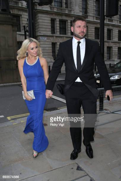 Kristina Rihanoff and Ben Cohen attend Together for Short Lives Midsummer Ball at Banqueting House on June 7 2017 in London England