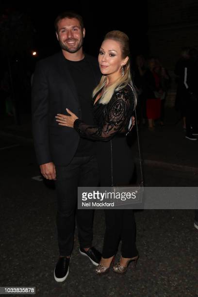 Kristina Rihanoff and Ben Cohen seen attending Julian Macdonald during London Fashion Week September 2018 on September 15 2018 in London England