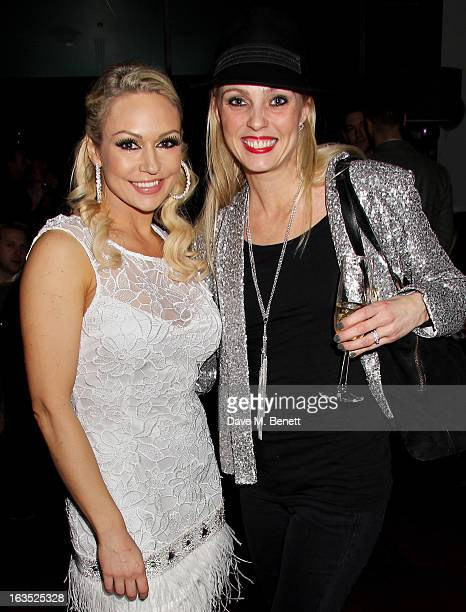 Kristina Rihanoff and Camilla Dallerup attend an after party celebrating the press night performance of 'Burn The Floor' at the Trafalgar Hotel on...