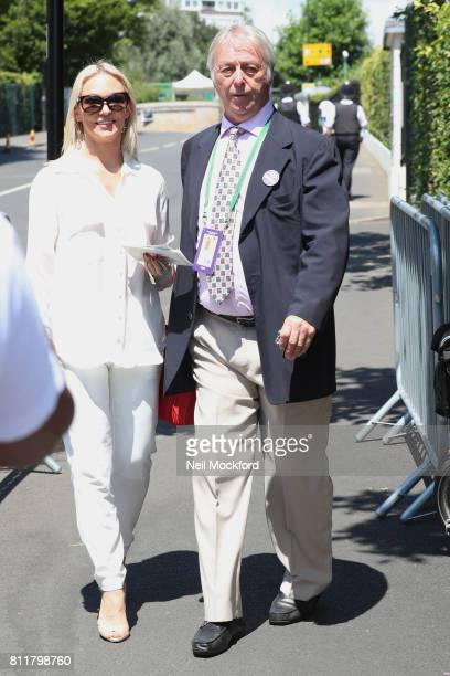 Kristina Rihanoff and David Lloyd seen arriving at Day 7 of Wimbledon 2017 on July 10 2017 in London England