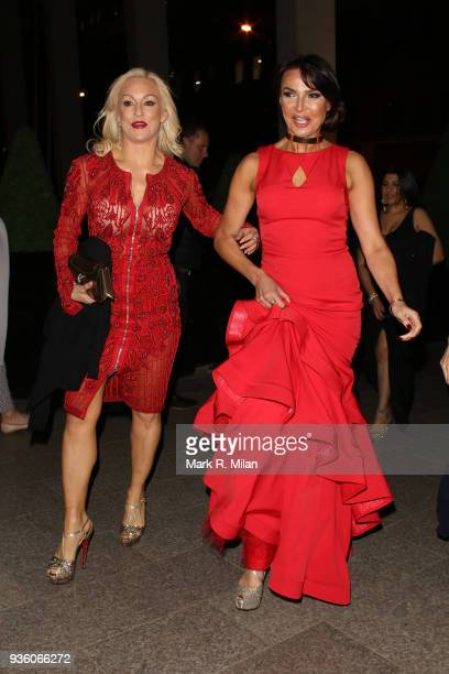 Kristina Rihanoff and Lizzie Cundy attending the OK Magazine's 25th anniversary party at the Shard on March 21 2018 in London England