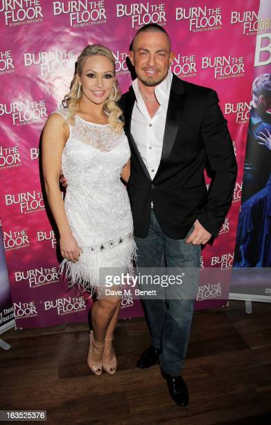 Kristina Rihanoff and Robin Windsor attend an after party celebrating the press night performance of 'Burn The Floor' at the Trafalgar Hotel on March...
