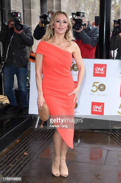 Kristina Rihanoff attends the 2019 'TRIC Awards' held at The Grosvenor House Hotel on March 12 2019 in London England