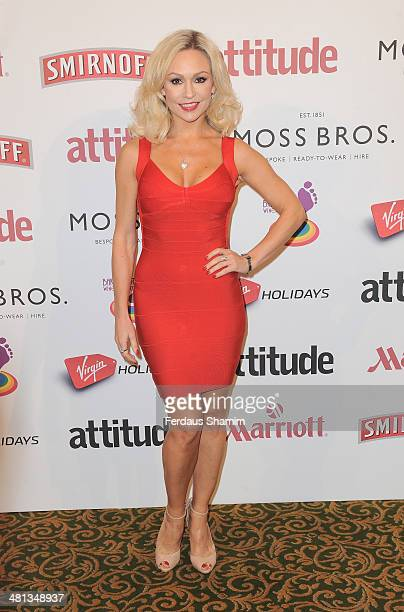 Kristina Rihanoff attends the 20th birthday party of Attitude Magazine at The Grosvenor House Hotel on March 29 2014 in London England